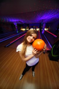Glow in the dark sports : Bowling