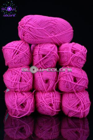 bobines de laine fluo