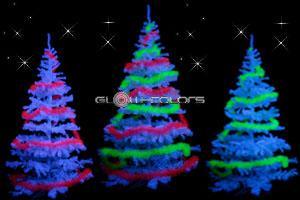 Sapins de Noël fluo