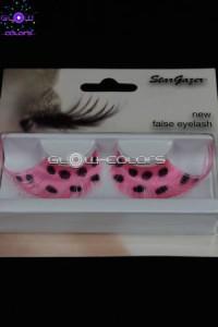faux cils Stargazer rose fluo UV réactifs
